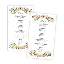 brittany design wedding menu card template u2013 a j u0027s prints