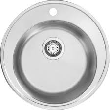 Stainless Steel Round Bowl Kitchen Sink  X Mm Deep Toolstation - Round sink kitchen