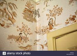 close view of wallpaper in the living room at 20 forthlin road