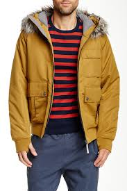 bench sizzle faux fur trim hooded jacket nordstrom rack