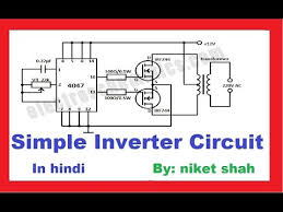 simple inverter circuit making in hindi youtube a practical