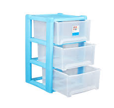 Drawer Storage Units Blue Plastic 3 Drawer Storage Unit Great For Office Bedroom Ebay