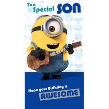 special son minions birthday card minion shop