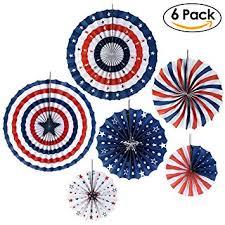 pbpbox patriotic hanging paper fan decorations