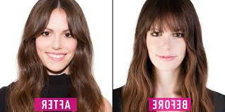 hairstyle without bangs for long hair how to grow out bangs best