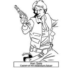star wars coloring han solo embroidery patterns