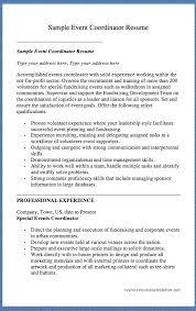 events coordinator resume training coordinator resume 15100