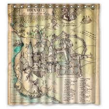 Nerdy Shower Curtain Harry Potter The Marauder U0027s Map Shower Curtain Aliexpress Com
