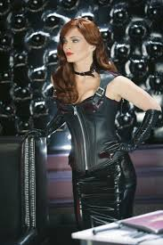 dina meyer played a latex clad dominatrix in a stunning skin tight