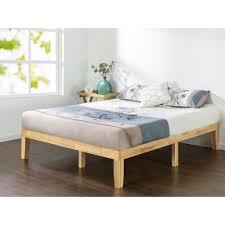 zinus natural queen solid wood platform bed frame hd rwpb 14q