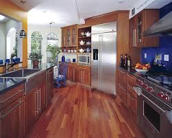 Solid Wood Or Laminate Flooring Hardwood Floor In A Kitchen Is This Allowed