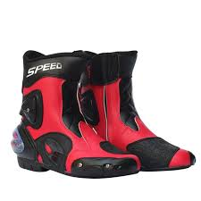 black biker boots ankle joint protection motorcycle boots men pro biker boots for