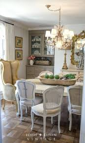 french country dining room table decor upholstered chairs ideas