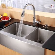36 stainless steel farmhouse sink kraus khf203 36 stainless steel 35 7 8 double basin 16 gauge