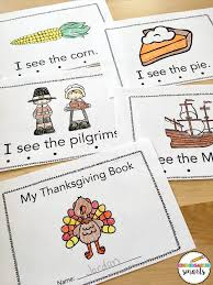 thanksgiving sight word book with a freebie kindergarten smarts
