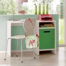 Schreibtisch Lang Schmal Kinder Schreibtisch In Weiß U0026 Grün Schöner Arbeitsplatz In Weiß