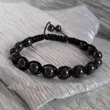shamballa bead bracelet images Hematite braceletunisex hematite shamballa bracelet 8mm jpg