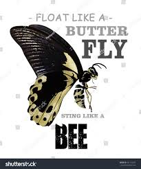 float like butterfly sting like bee stock illustration 441132520