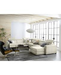 Reclining Fabric Sofa Nevio Leather Fabric Power Reclining Sectional Sofa With