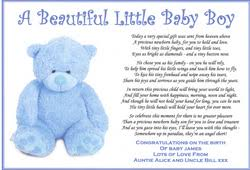 baby boy poems personalised poems and paper gifts bonniebitz baby gifts