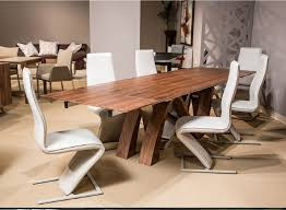 trance rapture walnut veneer dining set by michael amini