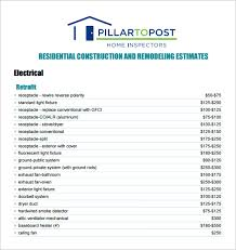 bid estimate template 6 contractor estimate templates free word excel pdf