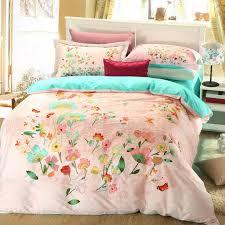 Pale Pink Duvet Cover Elegant Style Light Pink Floral Print Bedding Set Ebeddingsets