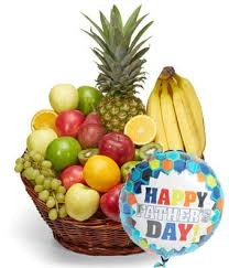 fathers day basket s day fruit basket balloon at from you flowers