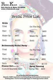 wedding hair prices wedding hair and makeup list makeup nuovogennarino