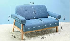 sofa 120 cm mid century modern colorful linen fabric sofa loveseat
