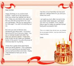 birthday letter to brother from sister bankofinfo com