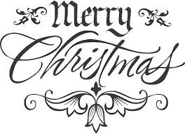 merry christmas clipart bubble letter pencil and in color merry
