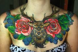 tattoo neck care 35 absolutely staggering deer tattoos inkdoneright