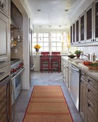 Galley Kitchen Rugs The Bright Rug Running This Narrow Kitchen Makes It Seem Just