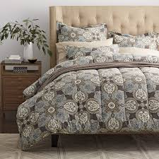 Comforter Thread Count Highland Paisley 400 Thread Count Sateen Comforter The Company Store