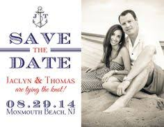 Nautical Save The Date Navy Blue Tying The Knot Photo Save The Date Card Preppy Chic
