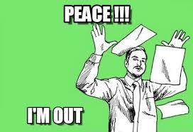 Peace Meme - peace throwing papers in the air meme on memegen