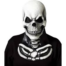 Skeleton Costumes For Halloween by Amazon Com Skull Mask With Skeleton Chest Piece Clothing