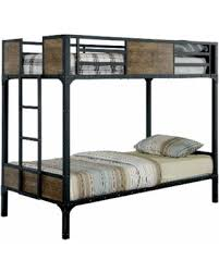 big deal on furniture of america markain industrial metal bunk bed