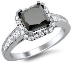 princess cut black engagement rings 2 48ct black princess cut engagement ring 18k white gold