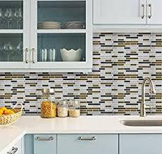 amazon com self adhesive tiles peel and stick tile backsplash for