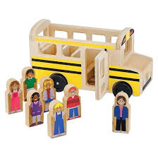 melissa u0026 doug bus wooden play set with 7 play figures