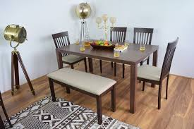 Dining Room Chairs Dallas by Solid Wood Dining Table With Bench Dining Room Sets Ahoc Ltd