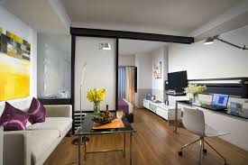 Efficient And Sophisticated Interior Decorating Ideas For A Small - Modern studio apartment design