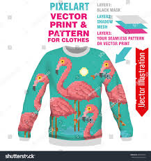 print pink flamingo vector layout sublimation stock vector