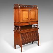 image bureau antique bureau cabinet edwardian walnut cupboard circa
