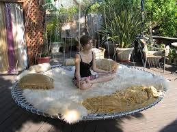 outdoor floating bed dream bed hammocks meet round mattresses in this hanging design