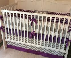 crib bedding set gray purple elephant made to order