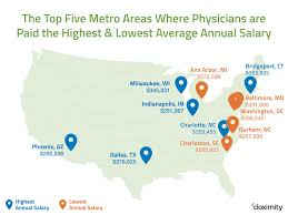 Dallas Texas On Map by The First Annual Doximity Physician Compensation Report