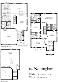 bradford floor plan nottingham 2865 sq centerville westin homes